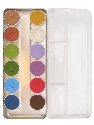 Superstar schminkpalet basic 12 kleuren + sprookjes 12 kleuren
