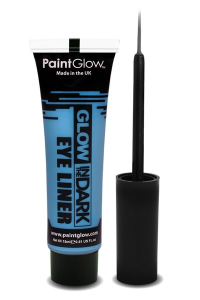 Glow in the dark eyeliner UV neon blue