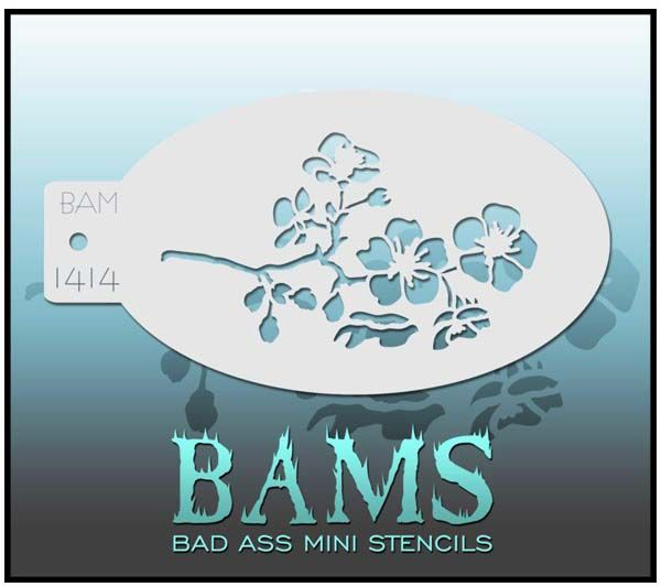 Bad Ass BAMS stencil 1414