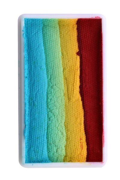 PXP One Stroke splitcake rood geel groen blauw PartyXplosion