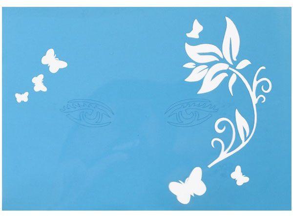 PXP Schmink-sjabloon tak met blaadjes met vlinders