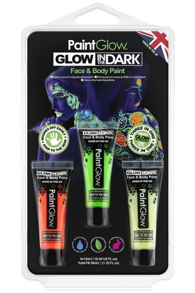 PaintGlow glow in the dark schminkset