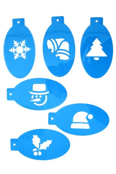 6 PXP Kerstmis schminksjablonen set
