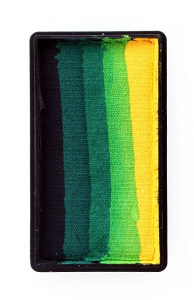 PartyXplosion split cake zwart donkergroen groen lichtgroen geel PXP