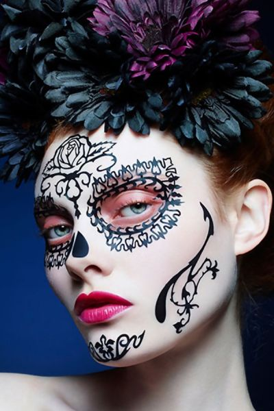 Face-lace Rosa Day of the dead