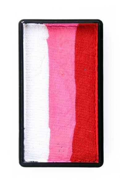 PXP One Stroke splitcake rood pink wit PartyXplosion