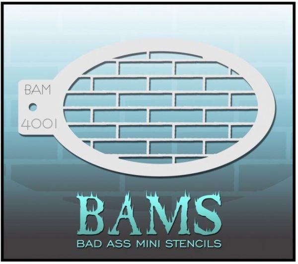 Bad Ass BAM schminksjabloon 4001