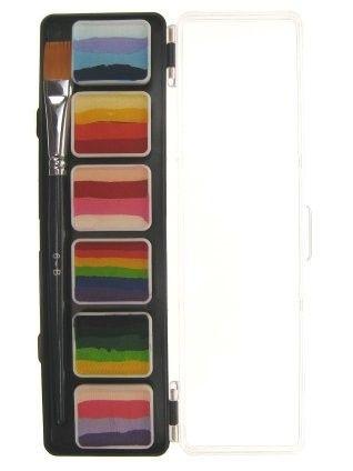 PXP Special FX schmink 6 x 6 gram splitcake palet met penseel