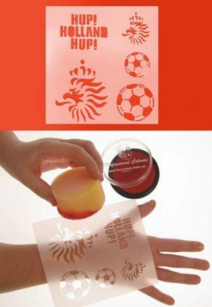 PXP PartyXplosion schminksjabloon voetbal Holland