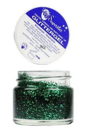 Glittergel superstar glitter green skin and hair