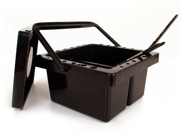 PXP Schminkpenselen reinigingsbakje zwart