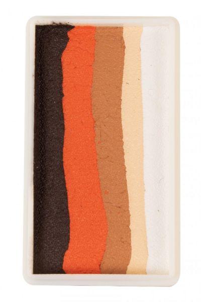 PXP splitcake Ebony oranje lichtbruin lichtbeige wit