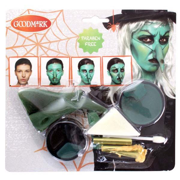 Face Paint set with witch nose for Halloween