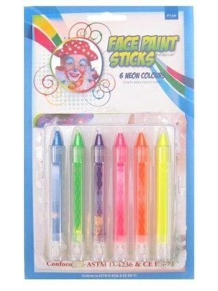 PXP kleurkrijtjes 6 neon kleuren
