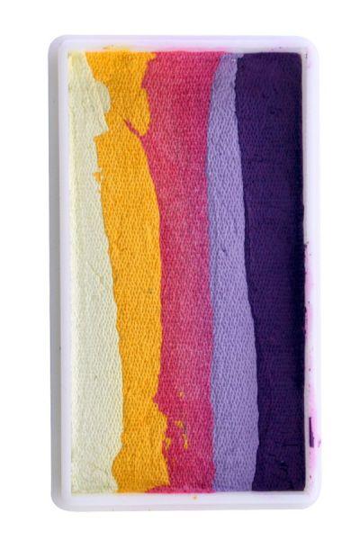 PartyXplosion One Stroke Split Cake paars lila pink geel lichtgeel PXP