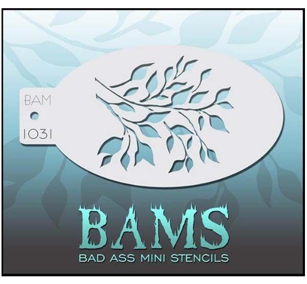 Bad Ass BAM schmink sjablonen 1031 bladeren