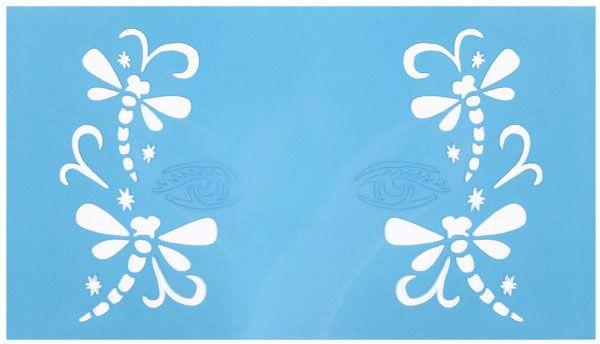 Face Paint Stencils Dragonflies princess
