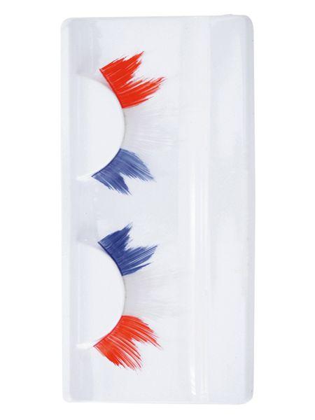 Koningsdag Wimpers puntvormig rood wit blauw